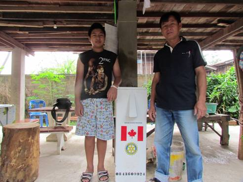 Proud new BioSand Filter owners, Phayao